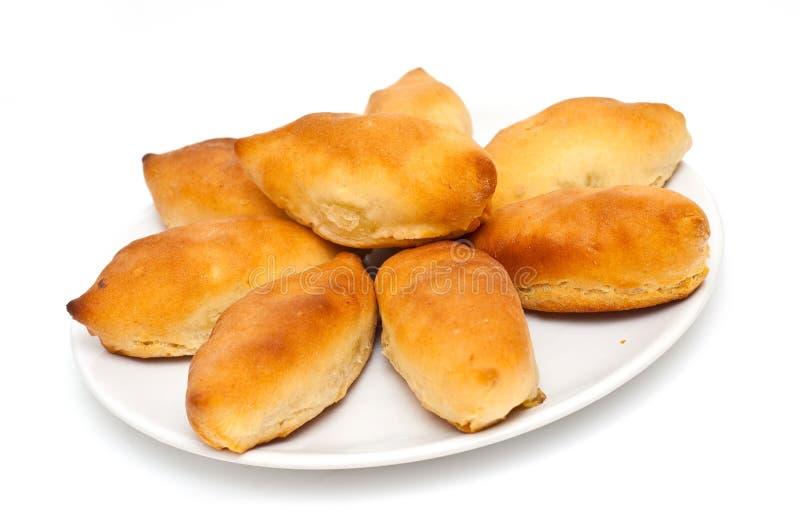 Pastrys rusos tradicionales de la patata imagenes de archivo