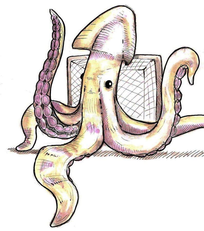 pastuch kałamarnica ilustracja wektor