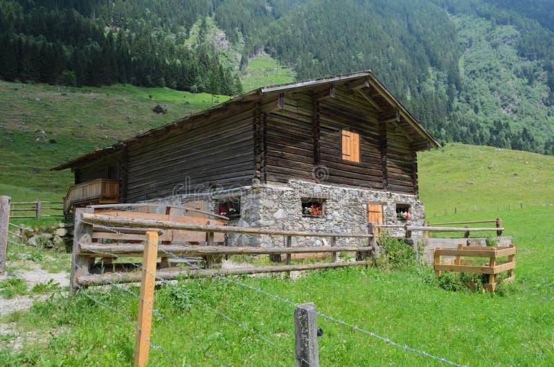 Pasture, Log Cabin, Hut, Grassland royalty free stock photography