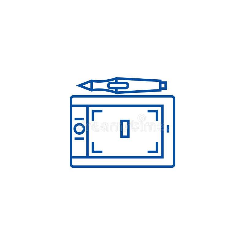 Pastylek grafika ikony kreskowy pojęcie Pastylek grafika płaski wektorowy symbol, znak, kontur ilustracja ilustracji