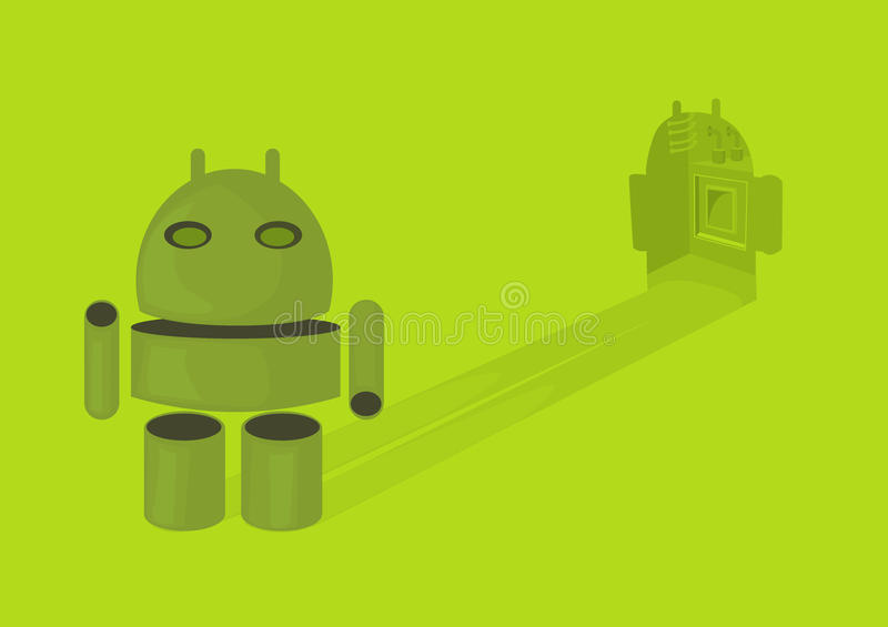 Pastylka cienia android fotografia royalty free