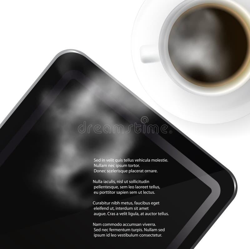 Download Pastylka Komputer Osobisty I Kawowa Nakrętka Ilustracja Wektor - Ilustracja złożonej z ekran, ekonomiczny: 28969588