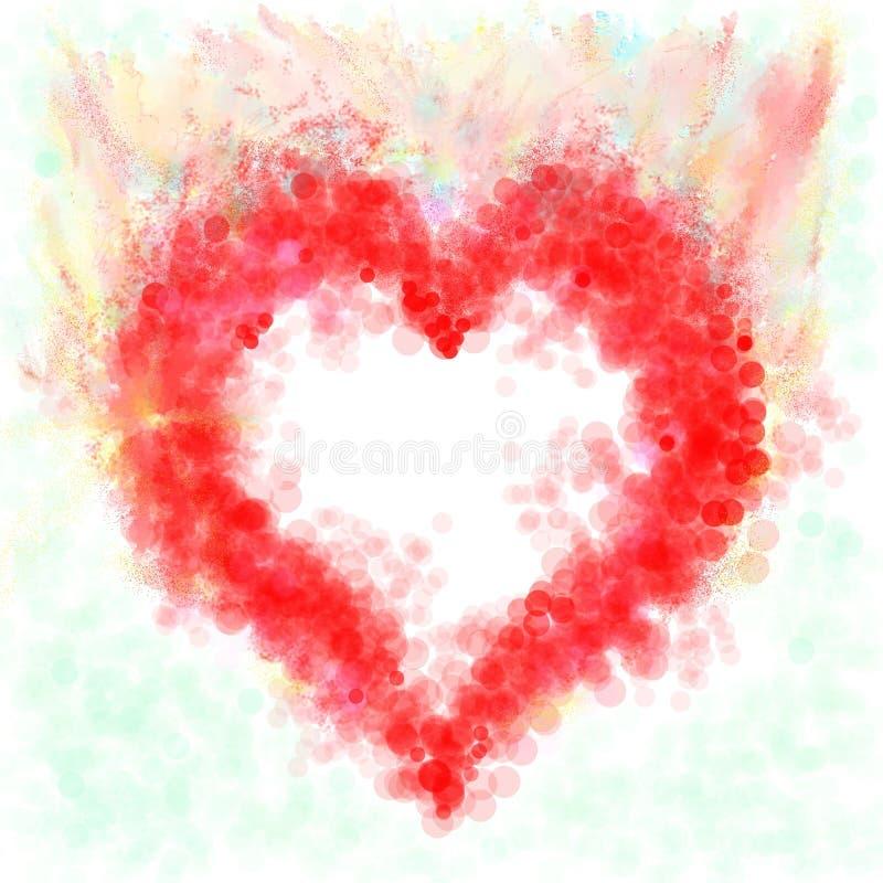 Download Pasyjna czerwień ilustracji. Obraz złożonej z miłość, zakończenie - 8040891