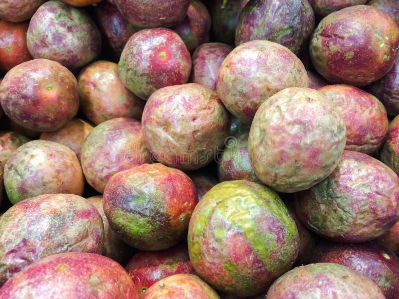 Pasyjnej owoc tło, diety jedzenie obraz stock