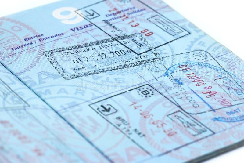 paszport fotografia stock