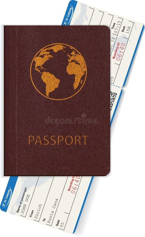 Download Paszport I Abordaż Przepustka Odizolowywająca Na Białym Tle Ilustracja Wektor - Ilustracja złożonej z kardamon, ikona: 57661336