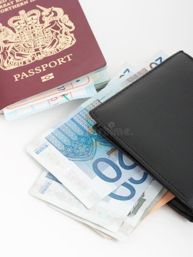 Paszport i portfel fotografia royalty free
