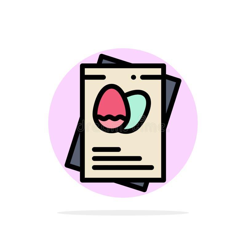 Paszport, jajko, jajka, Wielkanocnego Abstrakcjonistycznego okręgu tła koloru Płaska ikona ilustracja wektor