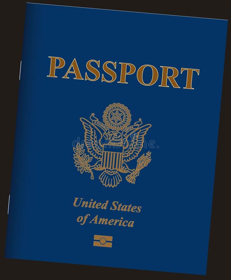 Paszport Stany Zjednoczone ilustracji