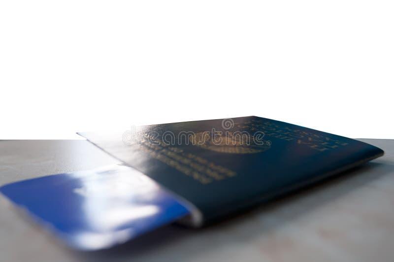 Paszport z biletowym zakończeniem, zdjęcie royalty free