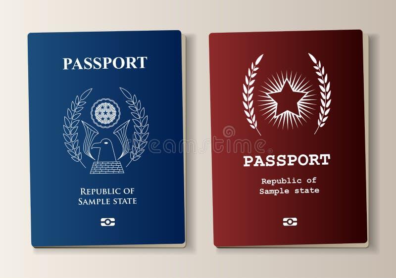 Paszporta set ilustracji