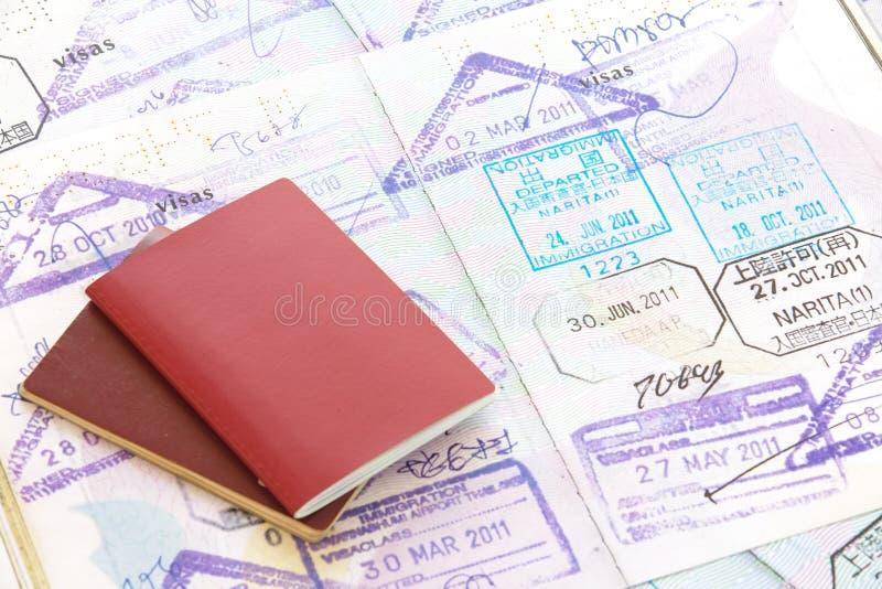 Paszporta znaczek zdjęcia royalty free
