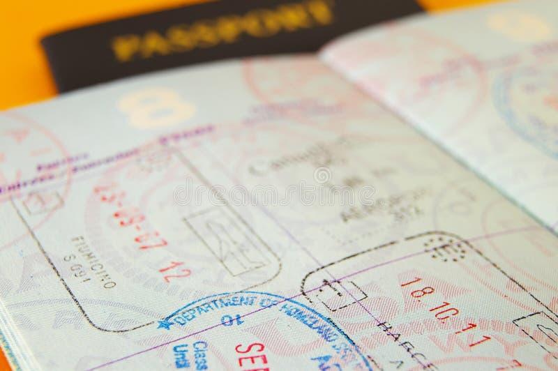paszportowi znaczki fotografia royalty free