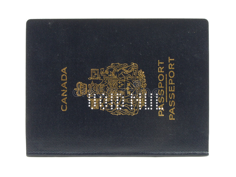 paszportu kanadyjskiej pustkę zdjęcie stock