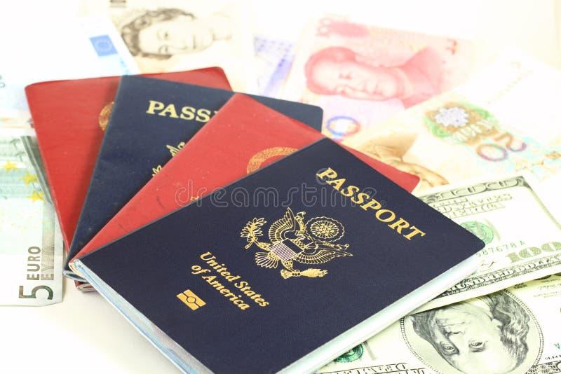 Paszporty na Globalnych Walutach zdjęcie royalty free