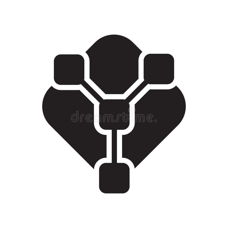 Pasztetowej mapy i związek ikony wektoru symbol i znak odizolowywaliśmy o royalty ilustracja