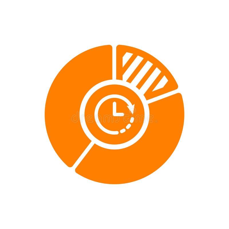 Pasztetowej mapy ikona, biznesowa ikona z zegaru znakiem Pasztetowej mapy ikona i odliczanie, ostateczny termin, rozkład, planist royalty ilustracja