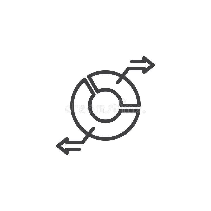 Pasztetowej mapy przeniesienia linii ikona ilustracja wektor