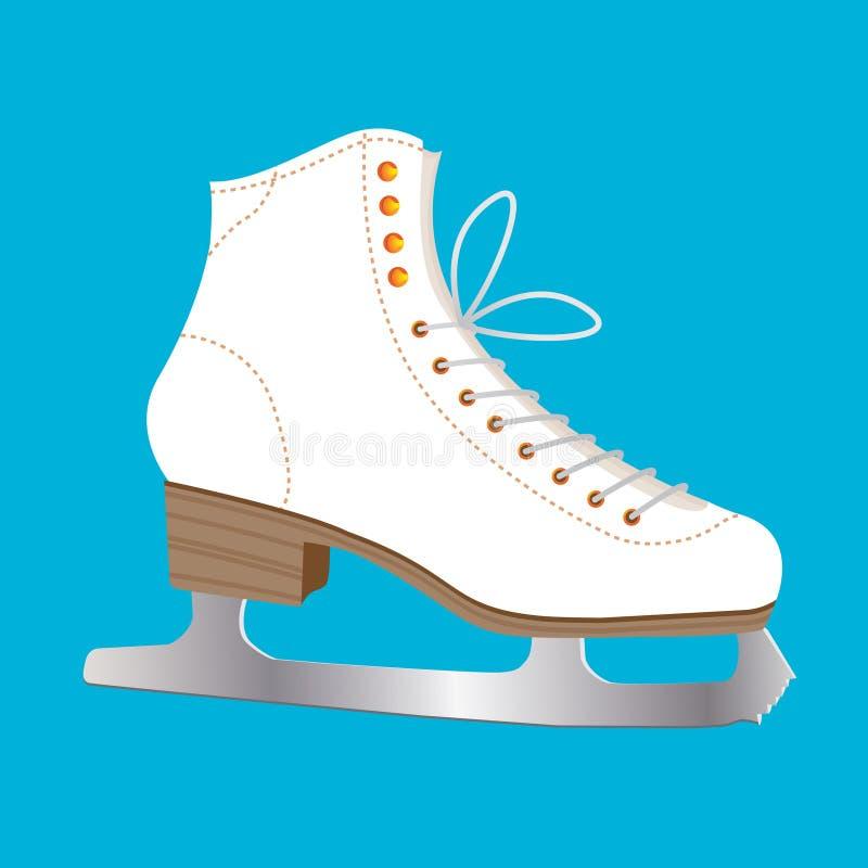 Patín de hielo ilustración del vector