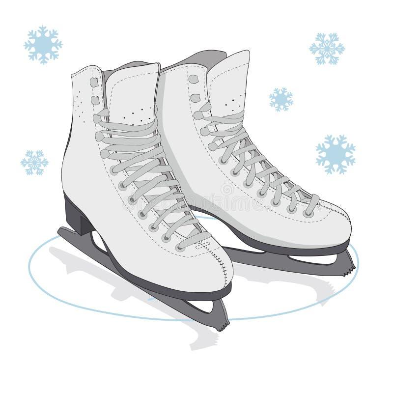 Patín de hielo stock de ilustración