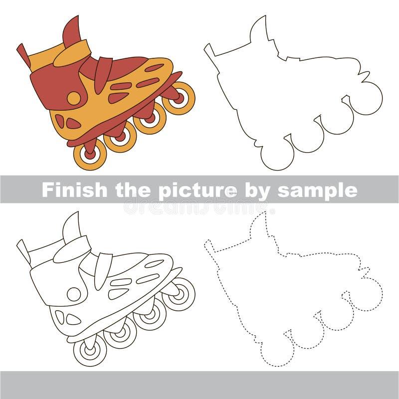 Patín de ruedas Hoja de trabajo del dibujo stock de ilustración