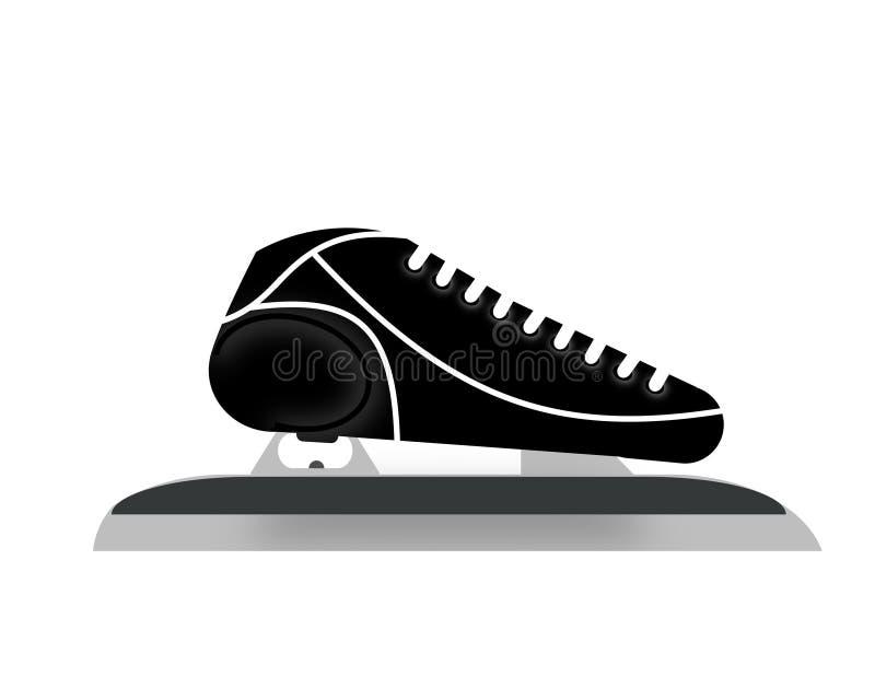 Patín para el patinaje de velocidad foto de archivo libre de regalías