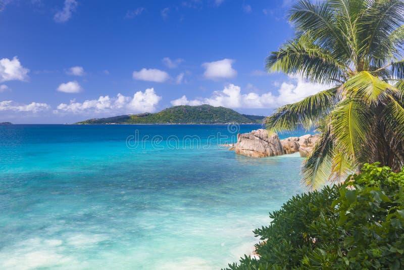 Pat beach, Seychelles. Pat beach on La Digue island, Seychelles royalty free stock photos