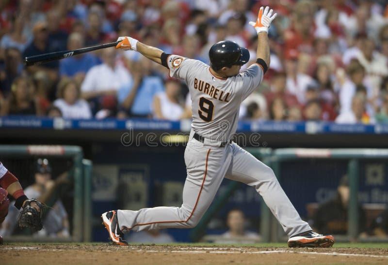 Pat Burrell. Left fielder, San Francisco Giants hitting in Philadelphia. 2010 royalty free stock images