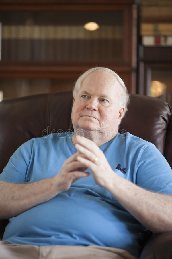 Pat Conroy. BEAUFORT, SOUTH CAROLINA, USA- SEPTEMBER 17, 2015: Candid portrait of famous writer Pat Conroy during an interview in September 2015. Conroy died stock photography