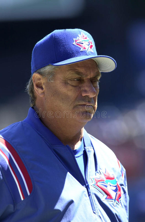 Pat Corrales. Toronto Blue Jays manager Pat Corrales. (Image taken from color slide royalty free stock photography