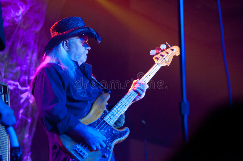 Pat Elwood. LINCOLN, CA - March 16: Pat Elwood with the Marshall Tucker Band performs at Thunder Valley Casino Resort in Lincoln, California on March 16, 2012 stock images