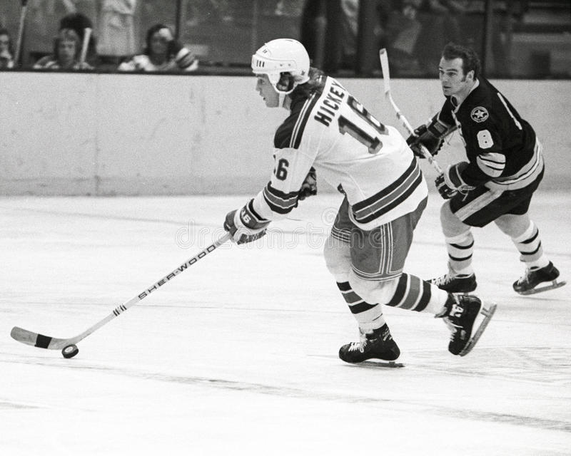 Pat Hickey. New York Rangers forward Pat Hickey. (Image taken from b&w negative stock photography