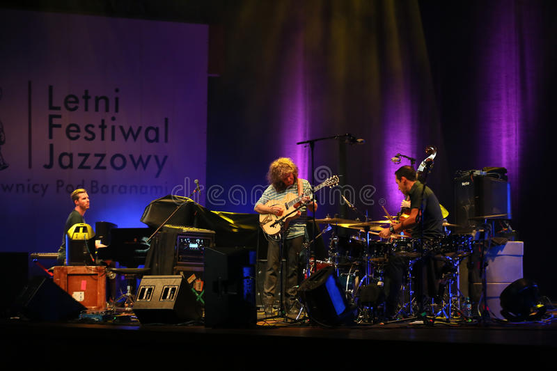 Pat Metheny. Playing on acoustic guitar at Summer Jazz Festival in Cracow, Poland royalty free stock photo