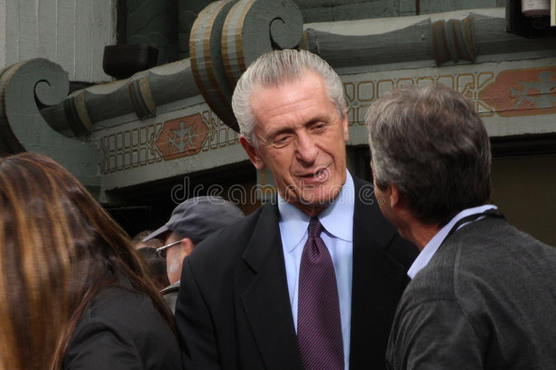 Pat Riley. Former Lakers coach Pat Riley royalty free stock images