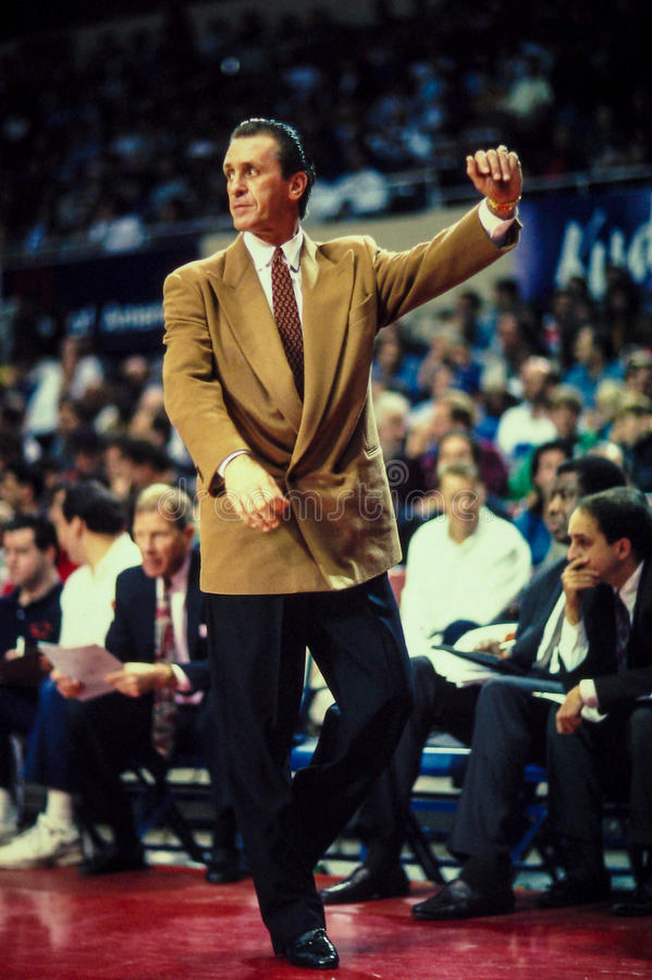 Pat Riley Head Coach. Former Lakers, Knicks and Miami Heat head coach Pat Riley. (Image taken from color slide stock photo