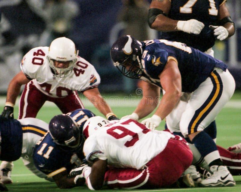 Pat Tillman e Simeon Rice, Arizona Cardinals imagens de stock