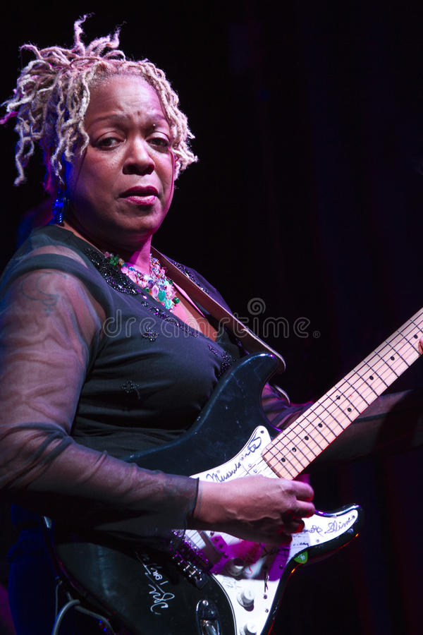 Pat Wilder. In concert in the theater royalty free stock photography