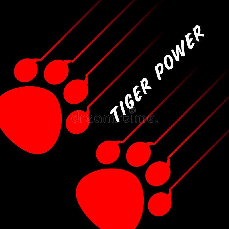 Pata del tigre ilustración del vector