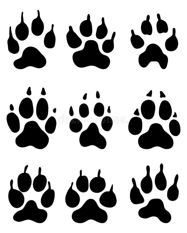 Pata do lobo ilustração stock