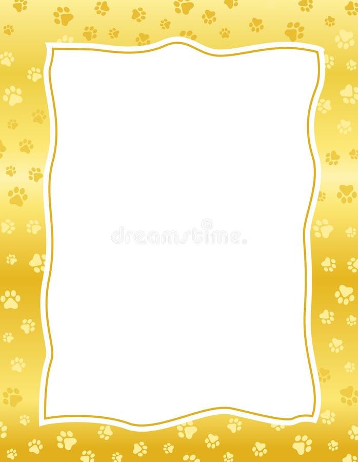A pata imprime a beira/frame ilustração do vetor