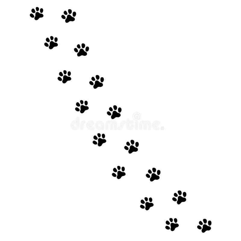 A pata imprime o ícone no estilo liso Símbolo para seu projeto do site, logotipo dos animais das pegadas, app, vetor de UI ilustração stock