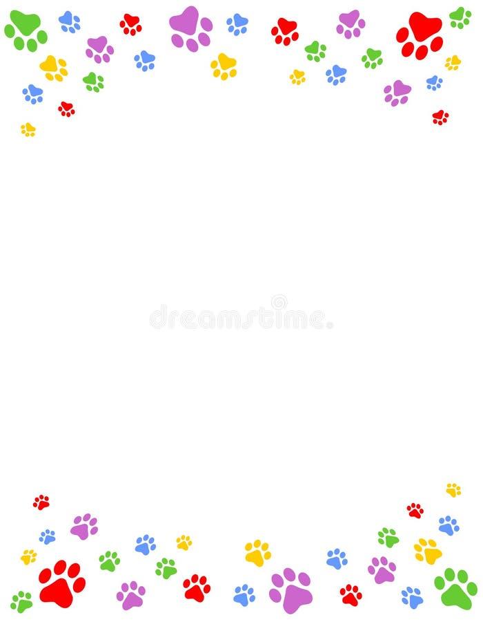 A pata imprime o frame ilustração stock