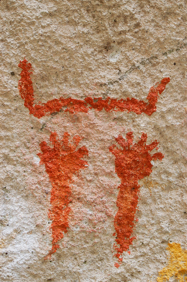 patagonia antique de peintures de caverne photo libre de droits