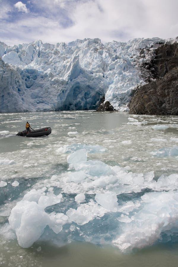 Patagonia - ghiacciaio di San Rafael - il Cile immagini stock libere da diritti