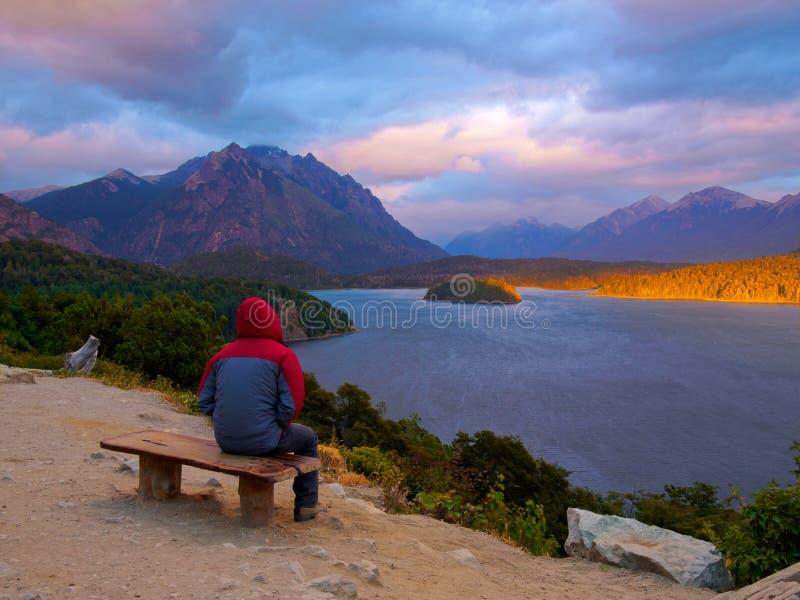 Patagonia krajobraz fotografia stock