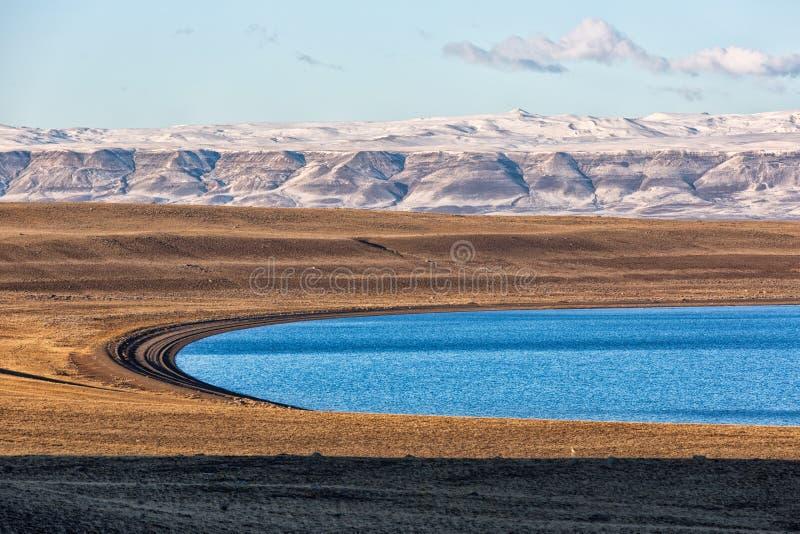 Patagonia krajobraz w El Calafate, Argentyna fotografia stock