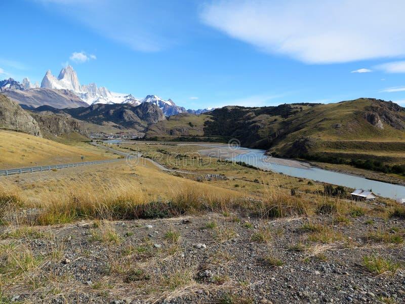 Patagonia, el chalten, the fitz roy mount stock photography