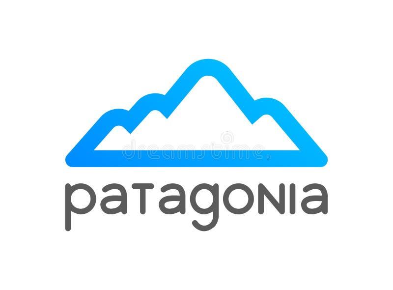 Patagonialogoemblemet för turnerar garnering - vektorillustration av loppet till Chile, Peru och Argentina vektor illustrationer