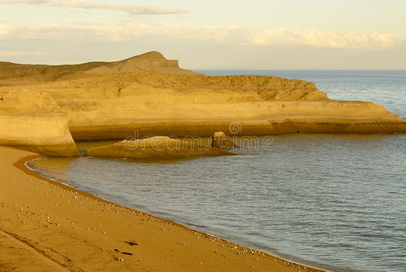 Patagonian Coast royalty free stock photo