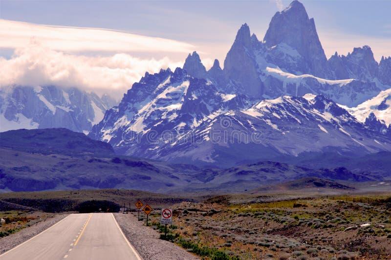 Patagonian landskap i nationalparken Los Glaciales royaltyfria bilder
